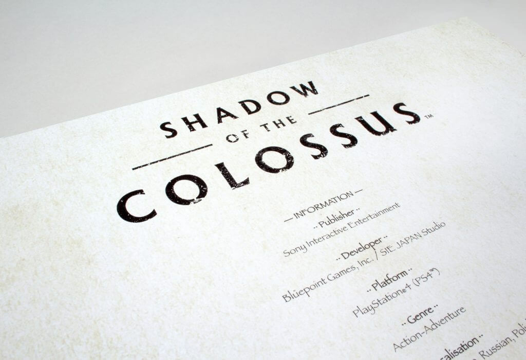 Shadow of the Colossus - Credits Card