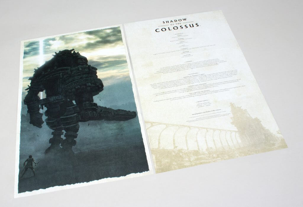 Shadow of the Colossus - Art Card & Credits Card