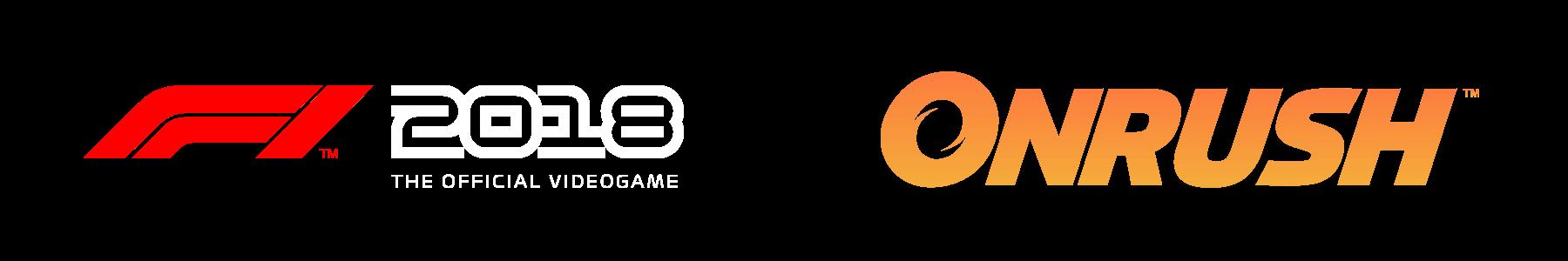 F1 and Onrush logos
