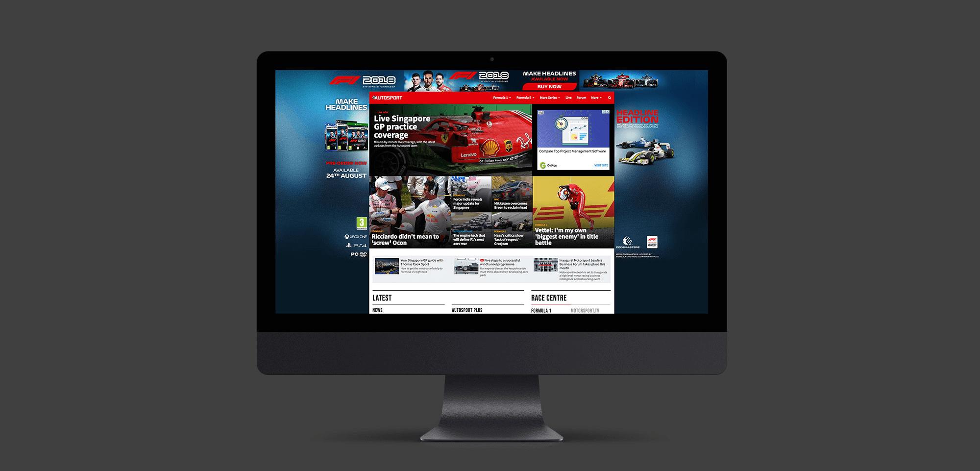 F1 Website Skin
