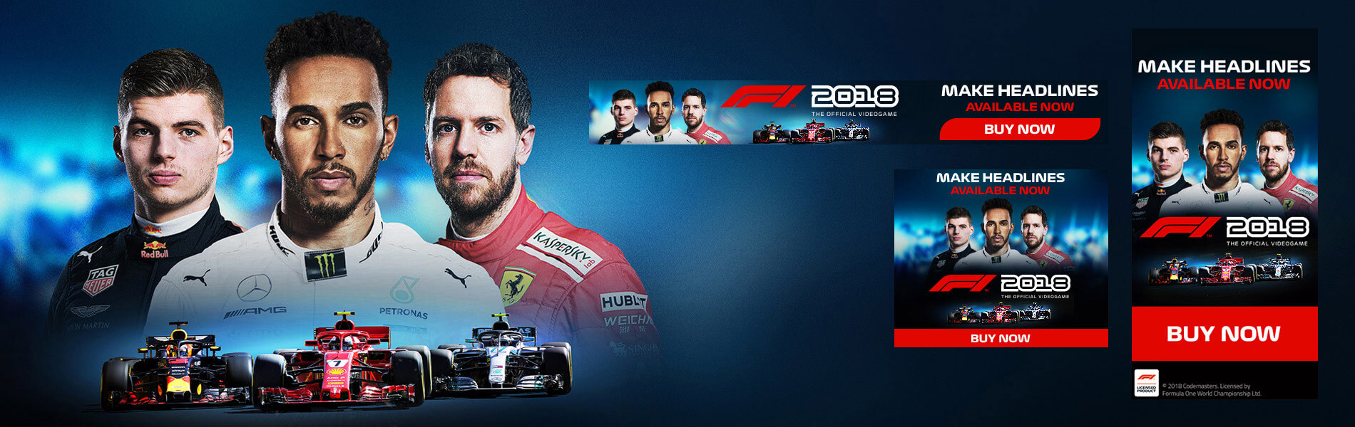 F1 Digital Banners