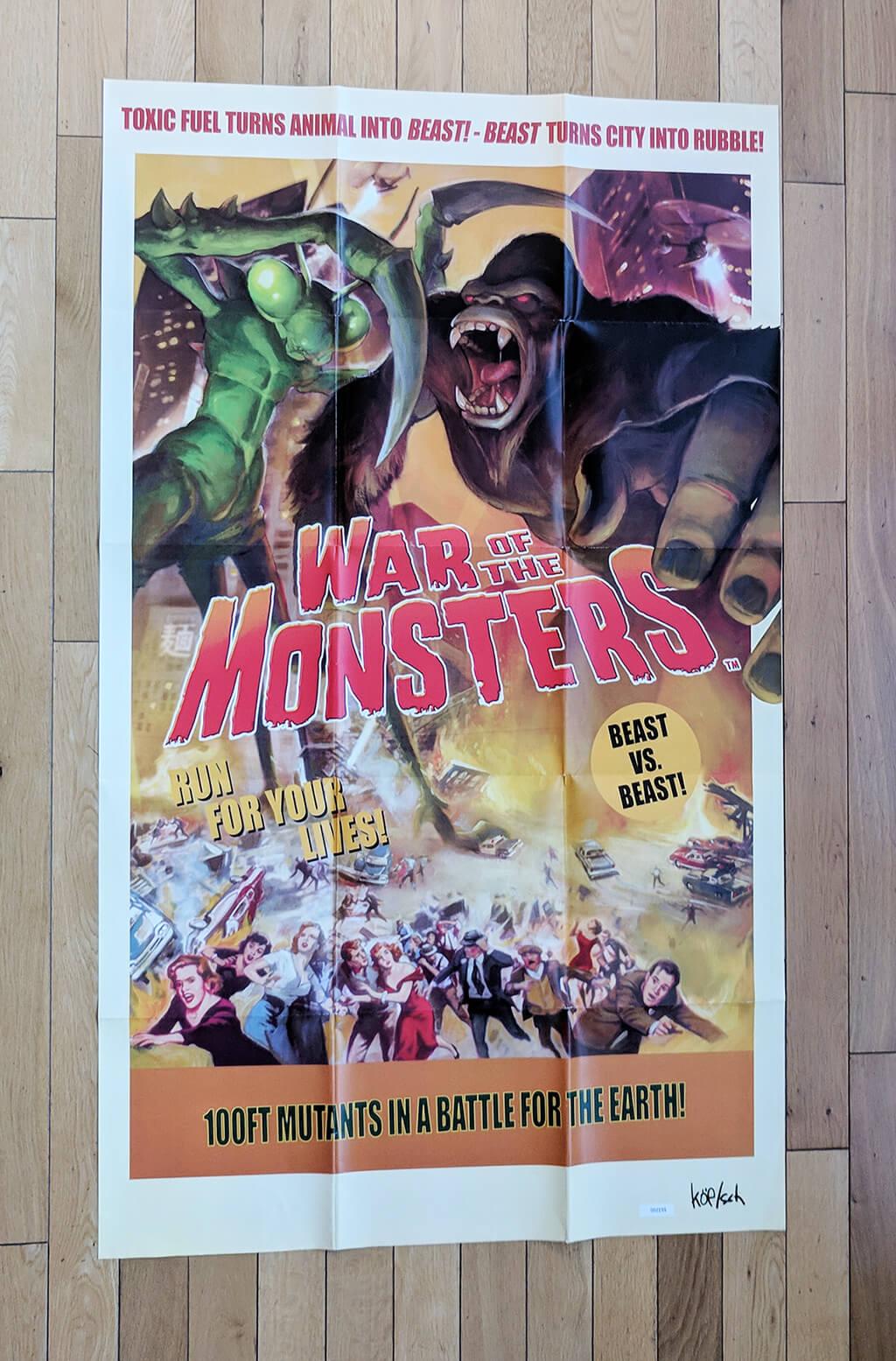 War of Monsters media kit poster