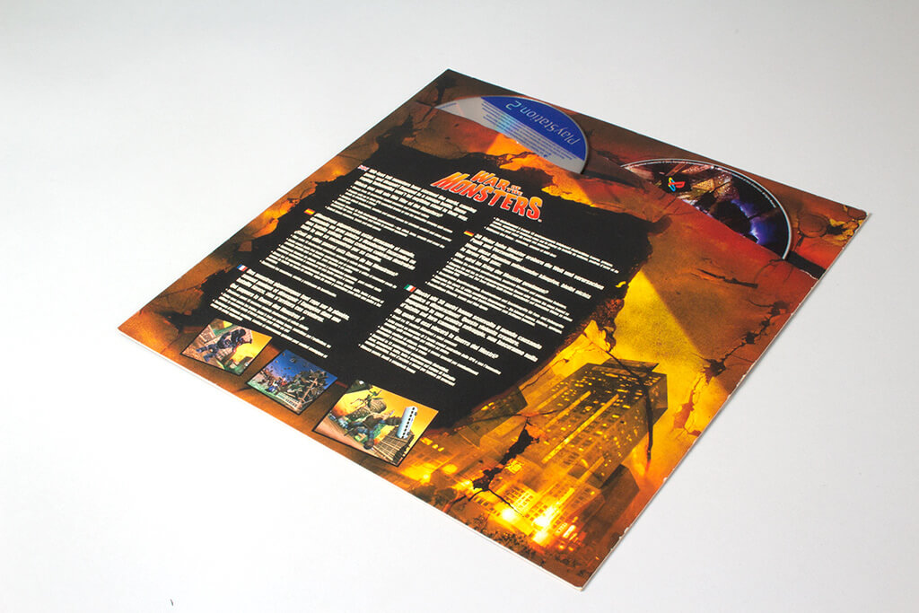 War of Monsters media kit discs