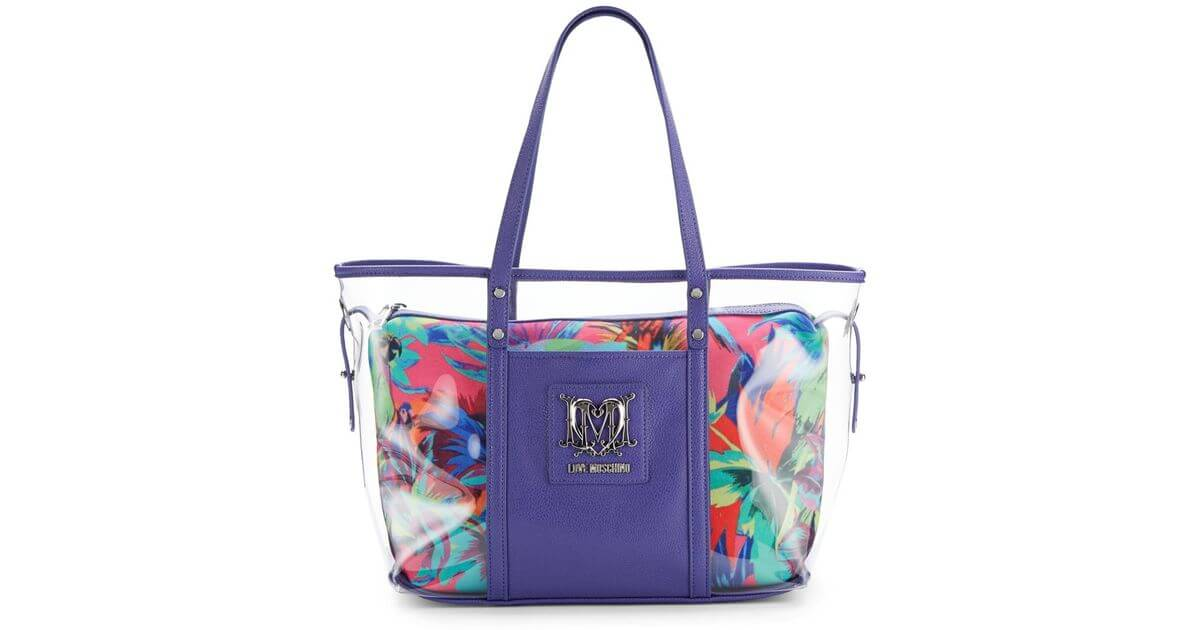 Clear fluro tote bag